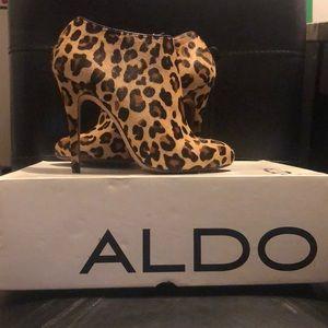 ALDO Gaunt-24 Leopard Calf Hair Bootie 7/38